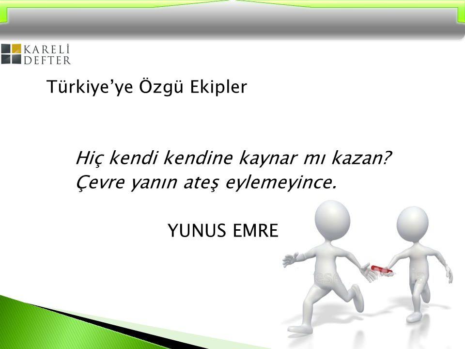 Türkiye'ye Özgü Ekipler ◦ Olgunlaşma eksiği ◦ Türk kültüründe yetişen bireylerin birbirleriyle yüzleşmekten kaçınmaları ◦ Güven eksikliği