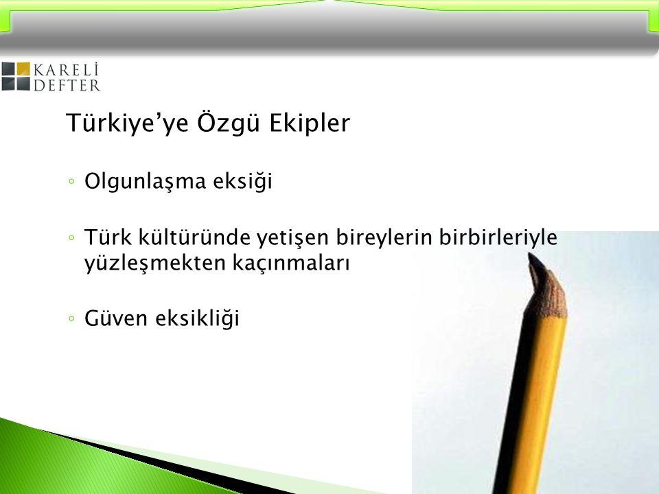 Türk kültüründe güven duygusu eksikliği Türk kültürünün ekip çalışması yapma konusundaki en büyük engeli güven eksikliğidir.