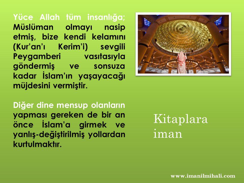 www.imanilmihali.com Allah'ın dini muhakkak değişmez ama değişen, saklanan, tahrip ve tahrif edilen ayetler ile yaşayan diğer semavi dinler artık Yüce Allah'ın gönderdiği din değildir.