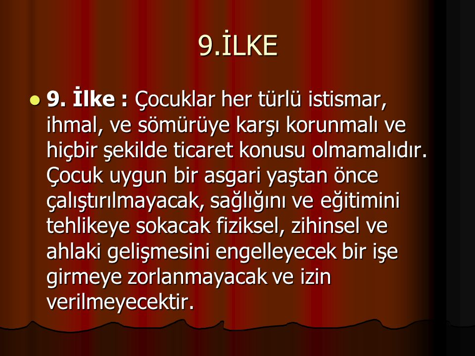 10.İLKE 10.