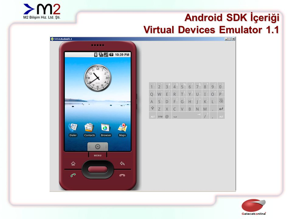 Android SDK İçeriği Virtual Devices Emulator 1.5
