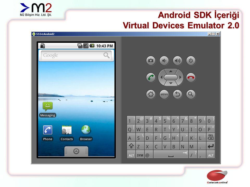 Android SDK İçeriği Virtual Devices Emulator 2.1