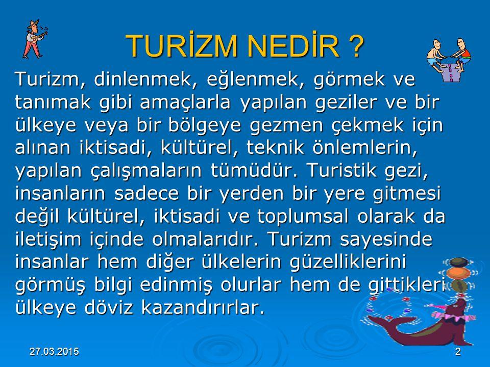 27.03.2015 3 TURİZM'iN TARİHÇESİ Turizm sözcüğü ilkin XIX.