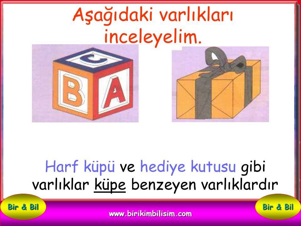 Harf küpü ve hediye kutusu gibi varlıklar küpe benzeyen varlıklardır Aşağıdaki varlıkları inceleyelim.