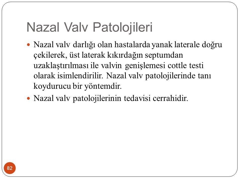 Nazal Fraktür 83 Burun yüzün en çıkıntılı ve en zayıf bölgesidir.