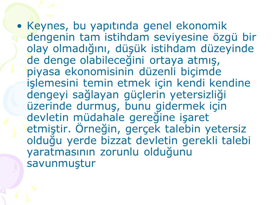 KLASİK TEORİ VE KEYNES'İN GENEL TEORİSİ Keynes, Ad.