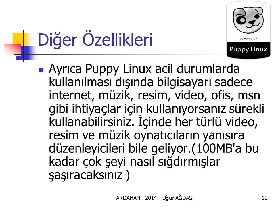 ARDAHAN - 2014 - Uğur AĞDAŞ11 Gücüne Güç Katın Puppy Linux teki dahili program sayısı yetmiyor, daha çok programa ihtiyacım var diyorsanız, intenetten linux için derlenmiş programları indirip Puppy Linux un gücüne güç katabilirsiniz.