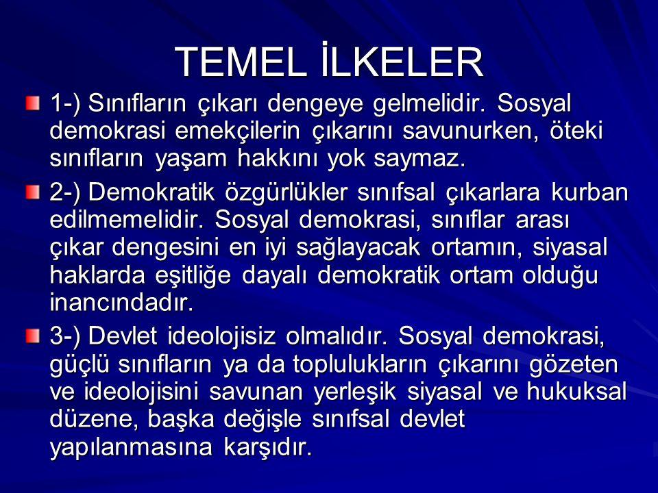 TEMEL İLKELER 4-) Bölüşüm hakça olmalıdır.