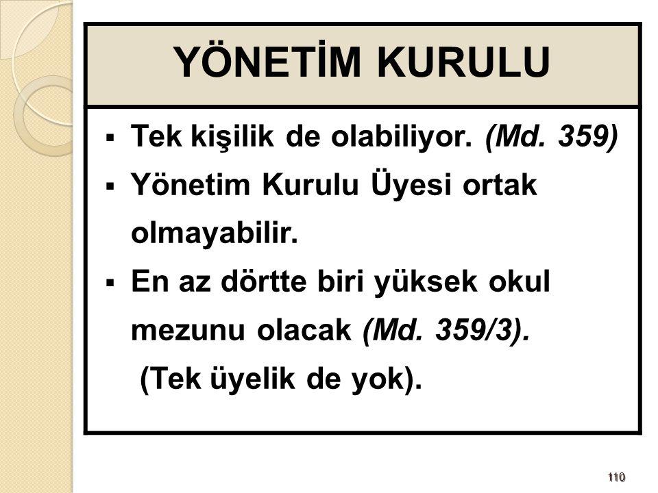 111111 YÖNETİM KURULU'NDA 1/4'ÜN HESABI  1.