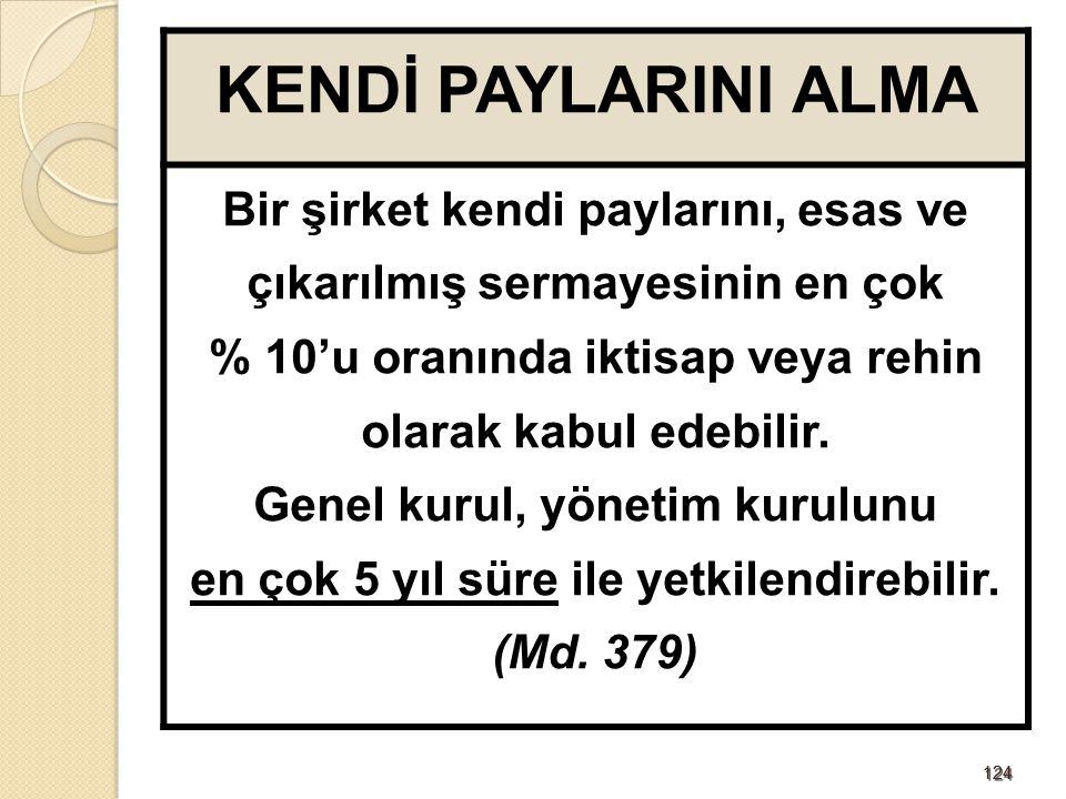 125125 GENEL KURULU TOPLANTIYA ÇAĞIRMA Genel kurul toplantıya, ana sözleşmede belirtilen şekilde, şirketin internet sitesinde ve Türkiye Ticaret Sicili Gazetesi'nde yayımlanan ilanla çağrılır.