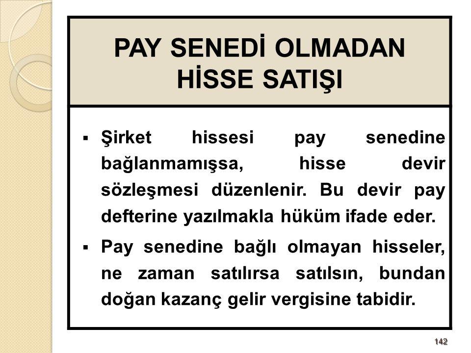 143143 PAY SENETLERİNİN ŞEKLİ  Pay senetlerinde;  Sermaye tutarı,  Tertibi ve yönetim kurulu kararının tescil tarihi,  İtibari değeri,  En az iki yetkilinin imzası, bulunmalı ve pay defterine kayıt edilmeli.