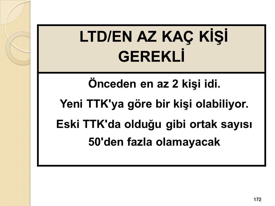 173173 LTD/ASGARİ SERMAYE 10 BİN TL OLACAK Eski TTK da 5 bin TL idi.