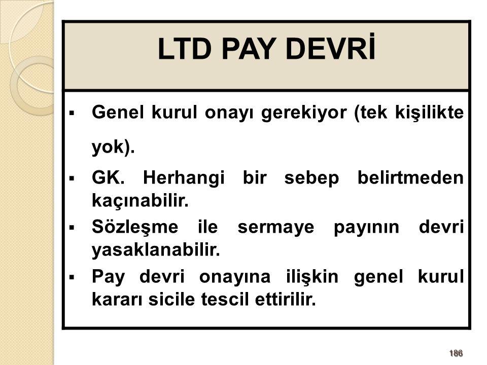 187187 LTD'DE PAY SENEDİ Limited şirketlere nama yazılı pay senedi çıkarma olanağı getirilerek ortaklık ispat kolaylığı, hem de yükümlülükleri senede yazılarak şeffaflık sağlanıyor.
