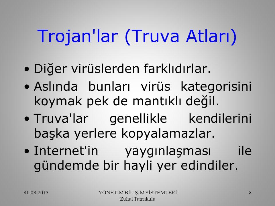 Trojan lar (Truva Atları) Truva lar 2 kısımdan oluşur.