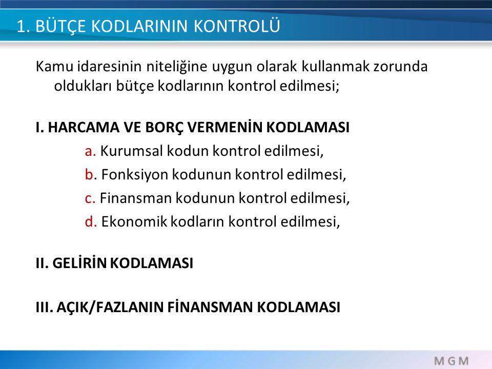 ABS FONKSİYONEL KODLAMA i. Devlet faaliyetlerinin türünü gösteren kodlama, ii.