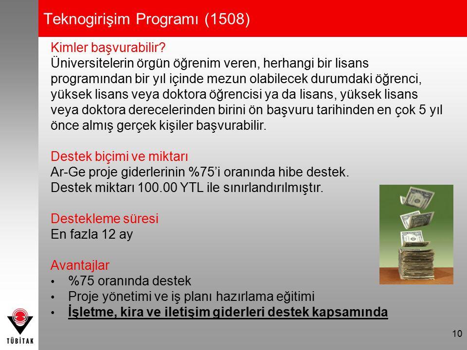 11 KOBİ Ar-Ge Başlangıç Destek Programı (1507) Kimler başvurabilir.