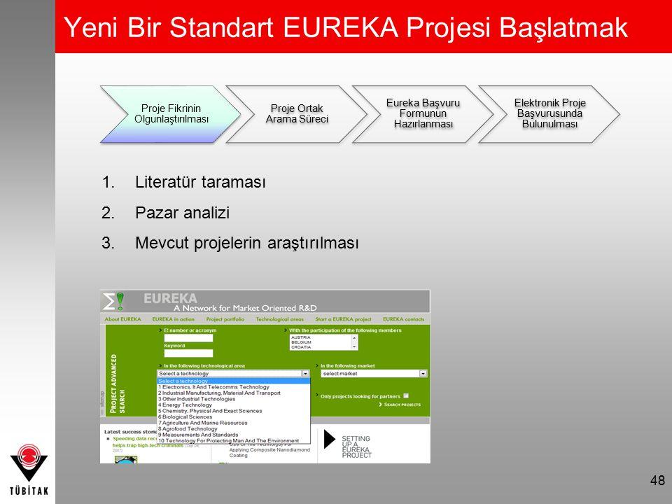 Proje Ortak Arama Süreci 49 Proje Fikrinin Olgunlaştırılması Proje Ortak Arama Süreci Eureka Başvuru Formunun Hazırlanması Elektronik Proje Başvurusunda Bulunulması 1.Firmanın diğer alanlarda işbirliği yaptığı ortaklarını projeye dahil etmesi 2.Eureka veritabanındaki projelerde yer alan uygun firmaların taranması 3.Eureka Ortak Arama Formunun doldurularak TÜBİTAK'a başvurulması (www.eureka.tubitak.gov.tr/docs)www.eureka.tubitak.gov.tr/docs