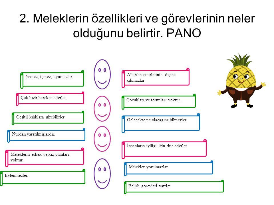 3. Meleklerin iyiliğin ve güzelliğin sembolü olduğunun farkında olur.PANO