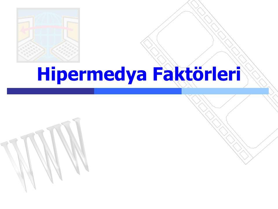 Hipermedya17  Metin, resim, video ve sesin birleşimi Hipermedya Veritabanı/ Ortam türleri Metin: avantajları - sürekli - istenen hızda okunması - yazdırması kolay dezavantajları - Okuması zayıf- zor -dikkati iyi çekmez - video ve sözel bilgiyle bağdaşamamak