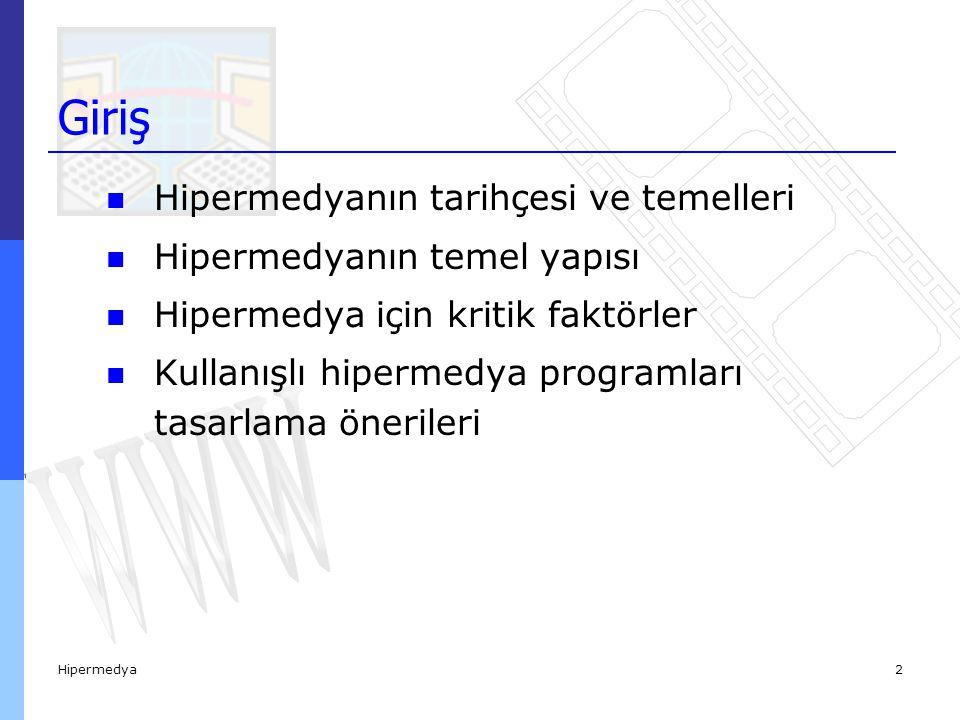 Hipermedyanın Tarihçesi ve Temelleri