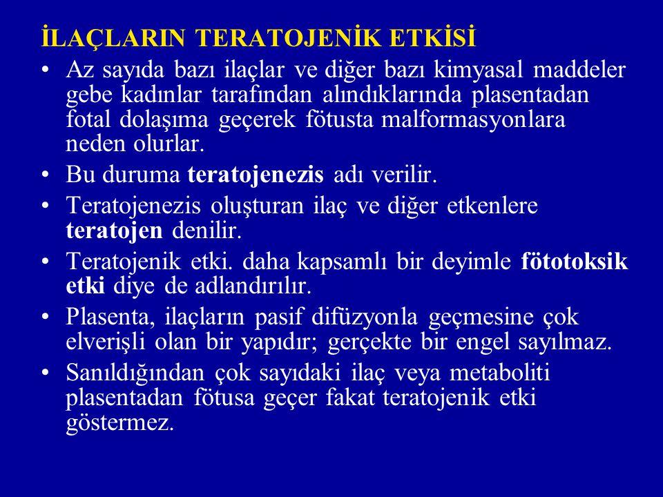 Teratojenik etki mekanizmaları i)Sitotoksik etkiye bağlı teratojenezis: Bu tür teratojenezis yapan maddeler DNA yapısını genotoksik etkileriyle bozmak veya DNA sentezini inhibe etmek ya da mitoz esnasında iğcik oluşmasını bozmak suretiyle sitotoksik etki yaparlar.