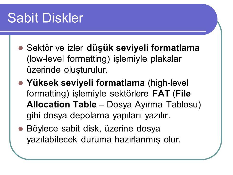 Sabit Diskler - Sabit Disk Çeşitleri Sabit diskler kendilerine erişim sağlanılan teknolojiyle anılırlar.