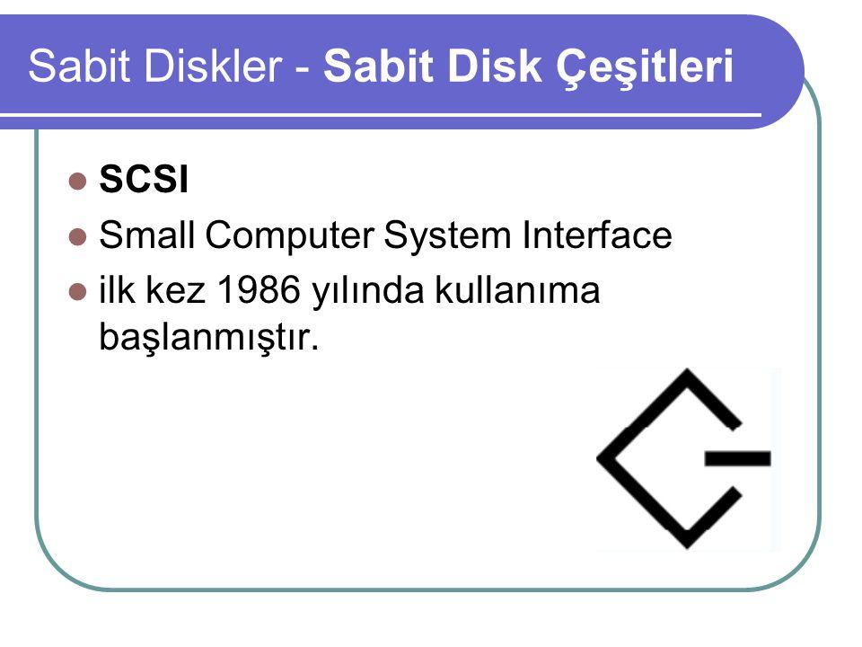 Sabit Diskler - Sabit Disk Çeşitleri SCSI teknolojisi, Cihaz bağımsızlığı sağlama ilkesiyle geliştirilmiştir.