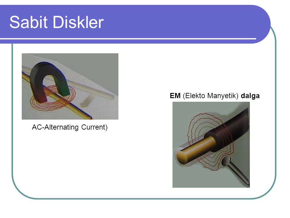 Sabit Diskler Elektromanyetik alanlar, alan içinde hareket eden nesnelerin şeklinden, yapısından ve yakınlığından etkilenir.