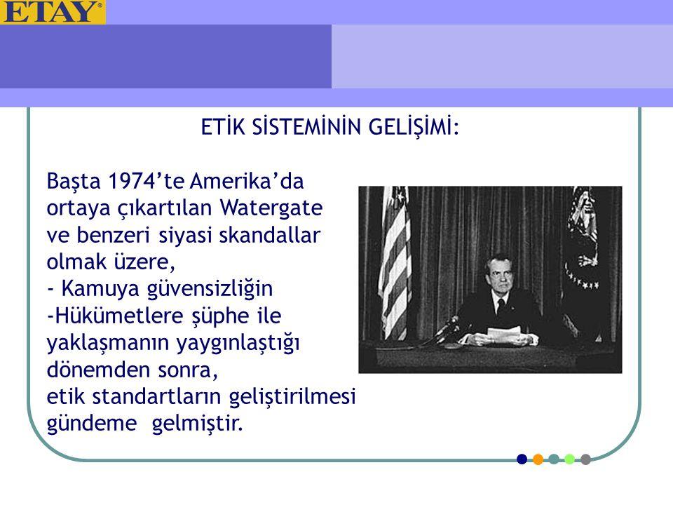 1977 yılında ; İş Etiği, Karakter Gelişimi, Global Etik ve Uluslararası Programlar olmak üzere üç ana dalda faaliyetlerini yürütmekte olan Ethics Resource Center kurulmuştur.