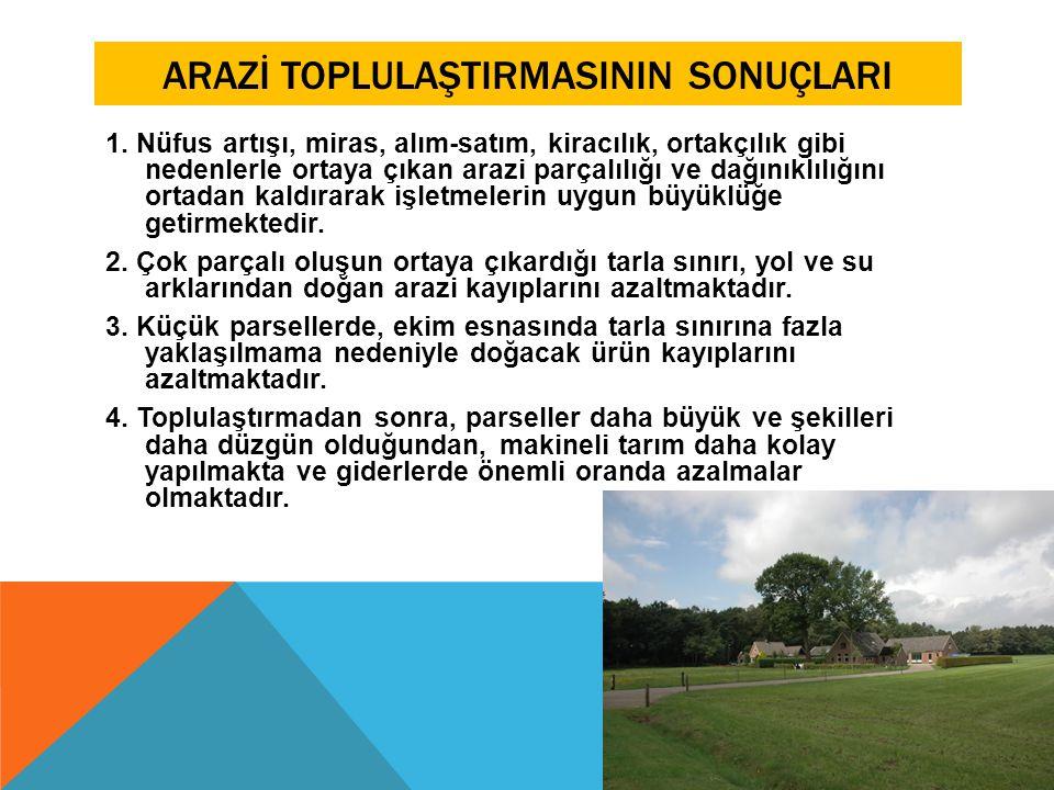 ARAZİ TOPLULAŞTIRMASININ SONUÇLARI 5.