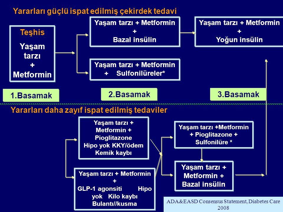 TEMD Tip 2 diyabetli hastalarda tedavi algoritması 2011