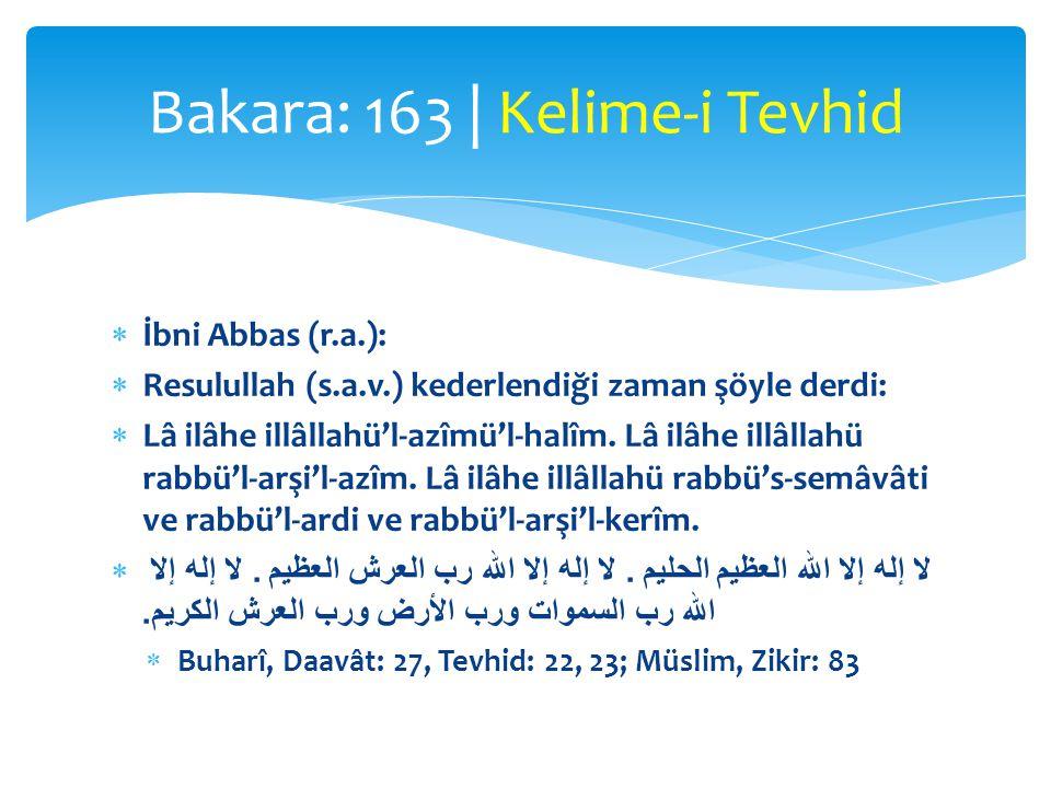 Rahmân ve Rahîm  Allah lâfzının yerine kullanılabilen yegâne isim: Rahmân  Başkası hakkında kullanılamayan isim: Rahmân  Rahmeti sonsuz  Rahmân ve Rahîm Odur: Bütün merhametler, şefkatler, muhabbetler Ondan gelir Bakara: 163 | Rahmân ve Rahîm