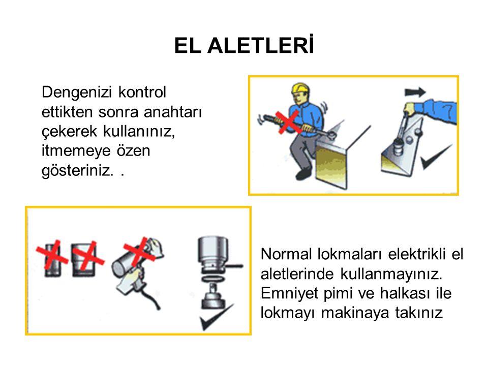 EL ALETLERİ Elektrikli el aletleri kullanılırken dikkat edilmesi gereken konular: Günümüzde işyerlerinde elektrikli el aletleri yaygın olarak kullanılmaktadır.
