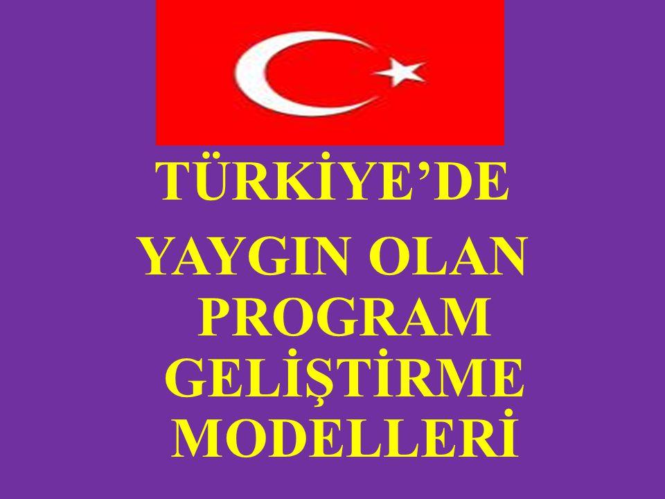 TÜRKİYE'DE YAYGIN OLAN EĞİTİM PROGRAMI MODELLERİ Türk eğitim sisteminde program geliştirme modeli nasıl olmalıdır sorusuna cevap aramak için yapılan bir araştırma sonucunda Taba-Tyler yaklaşımına uygun bir model önerisi ortaya çıkmıştır.