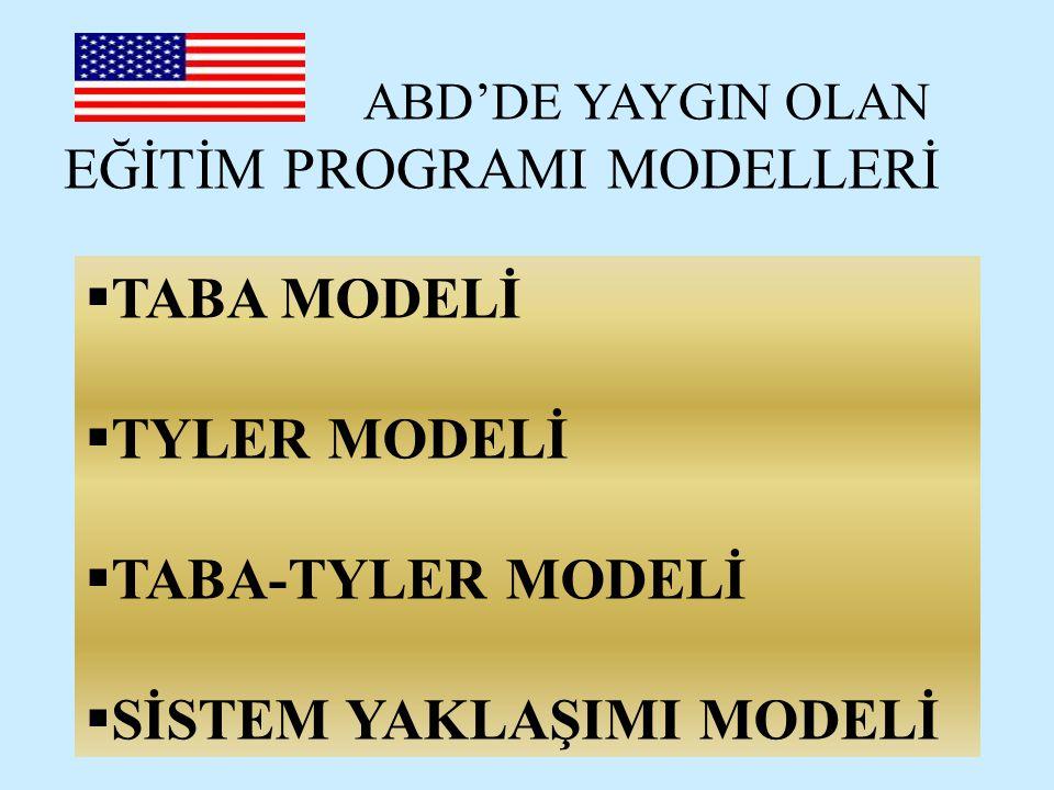 TABA MODELİ Tümevarım yaklaşımı benimsenerek geliştirilen ilk modeldir.
