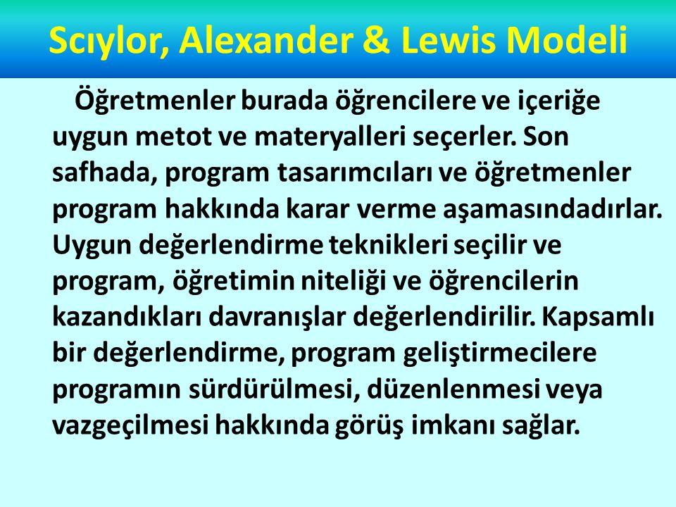 Hunkins Modeli Modelde kavramsallaştırma ve yasallaştırma ile dönüt ve düzeltme safhalarına yer verilmesi önemli bir özellik olarak görülmüştür.