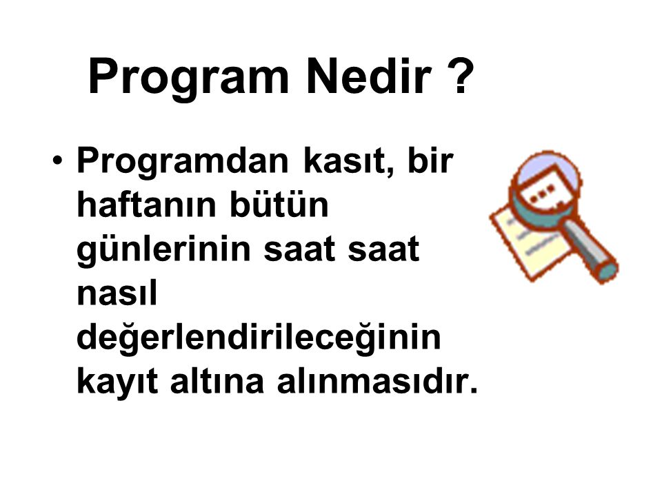 Program Nedir .