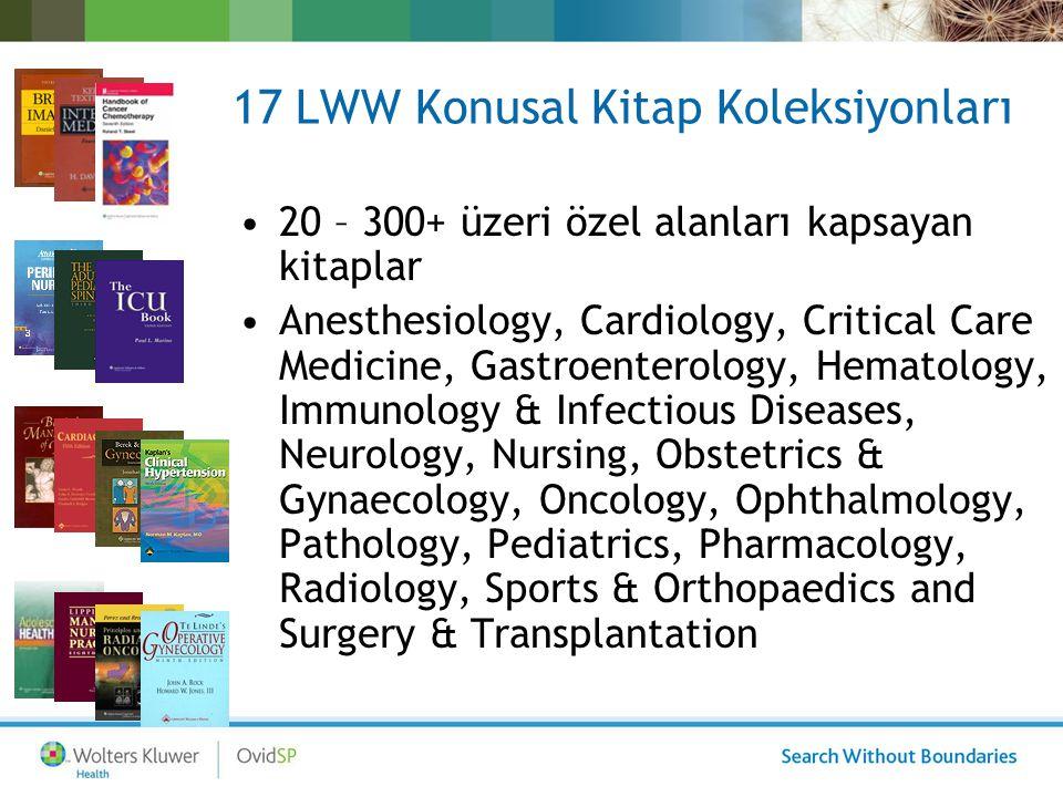 2 Kapsamlı LWW Kitap Koleksiyonu –LWW Complete Book Collection 2009 874 kitap –LWW Medical Book Collection 2009 343 kitap