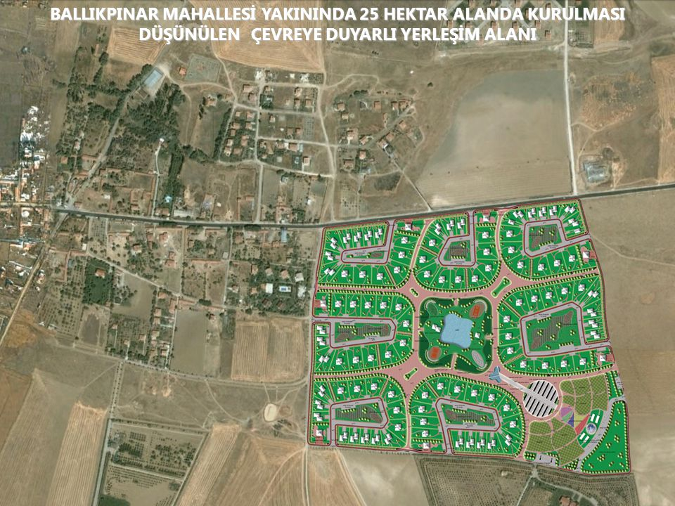 ARBORETUM ALANI 1/25 000 Ölçekli ÇDP'deki yeri ARBORETUM PROJESİ