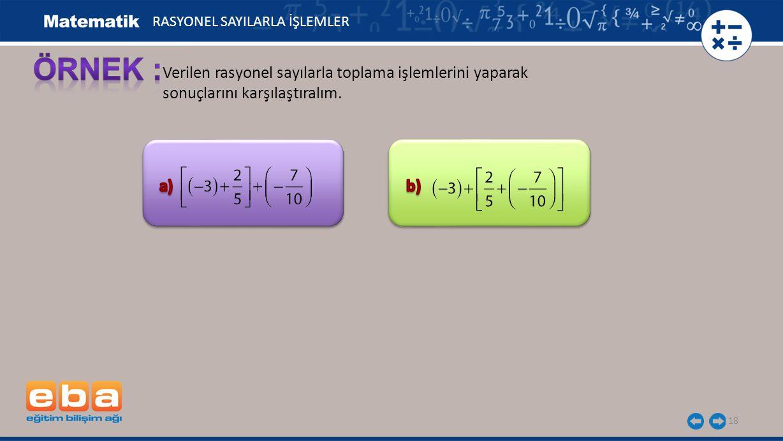 19 (1) (2) RASYONEL SAYILARLA İŞLEMLER