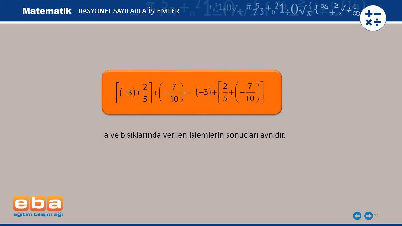22, ve birer rasyonel sayı olmak üzere olduğundan rasyonel sayılarda toplama işleminin birleşme özelliği vardır., ve birer rasyonel sayı olmak üzere olduğundan rasyonel sayılarda toplama işleminin birleşme özelliği vardır.