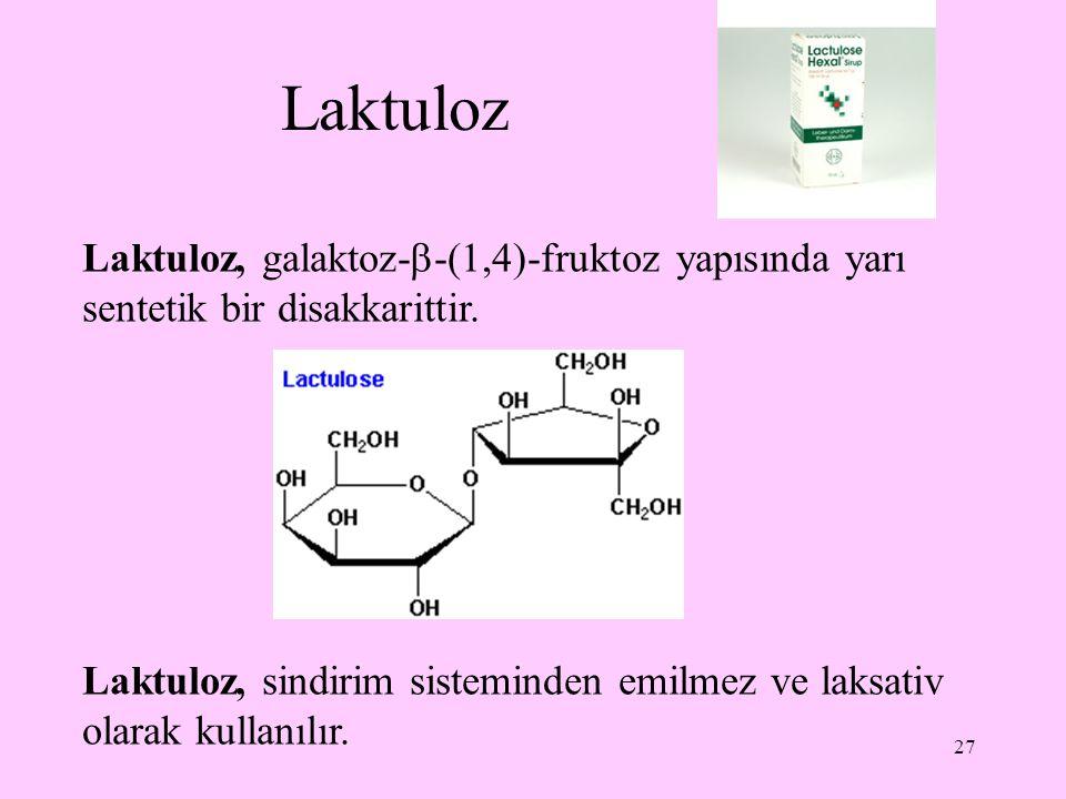 28 Disakkaritlerin tanınması Disakkaritler sulu asit ile kaynatma suretiyle ve enzimatik olarak hidroliz edildiklerinde kendilerini oluşturan monosakkaritler ortaya çıkar.