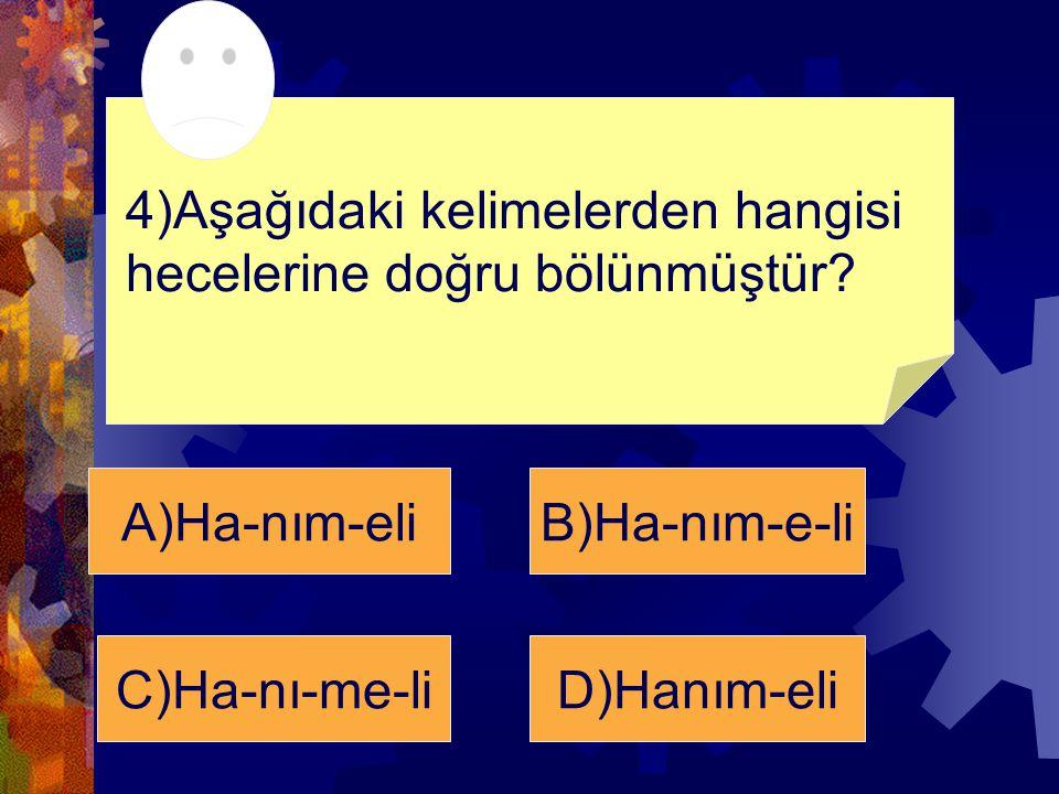 C) Ha-nı-me-li cevap 5+