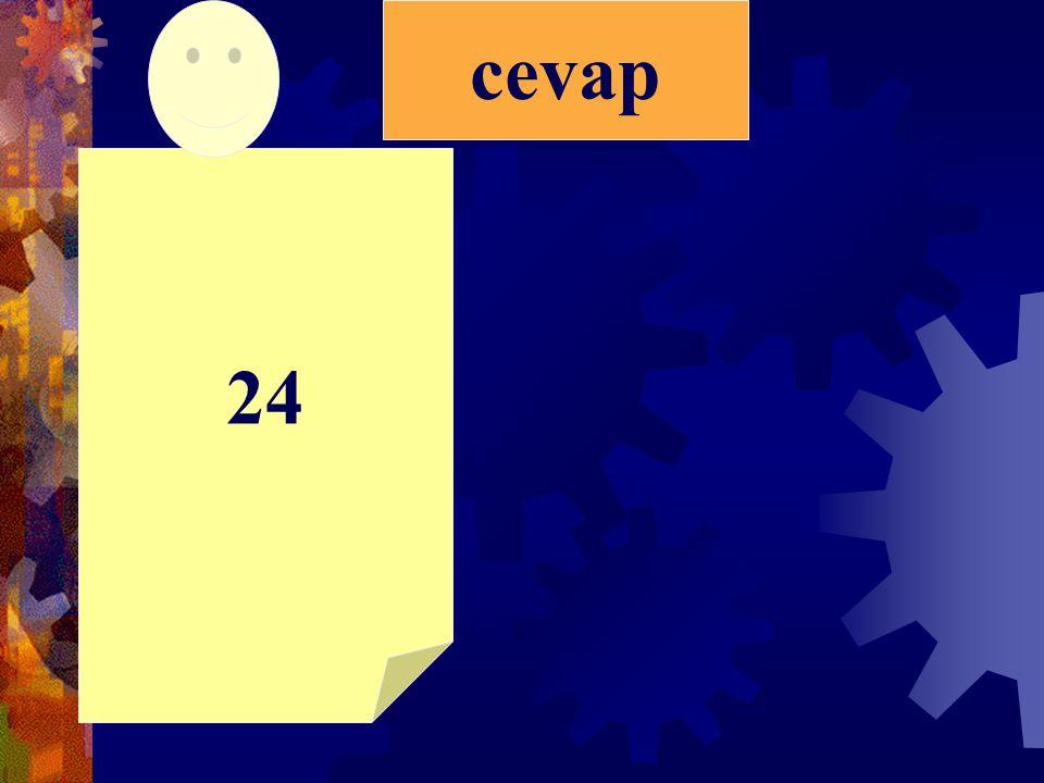 2)İki sayının toplamı 28'dir. Büyük sayı 15 ise küçük sayı kaçtır?
