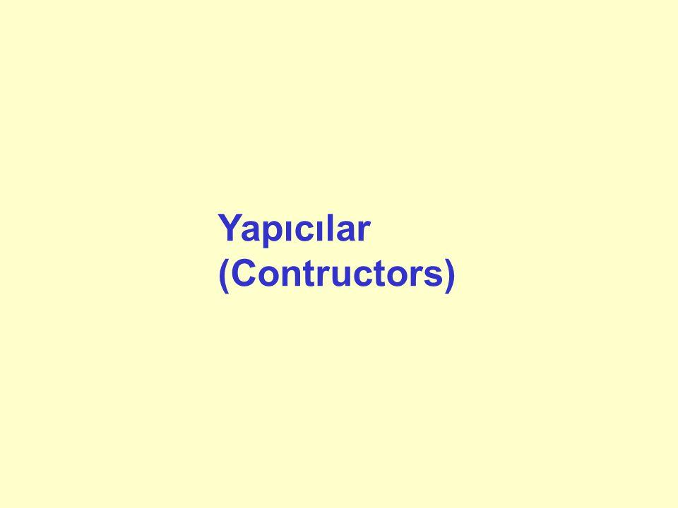 Yapıcılar (Contructors)