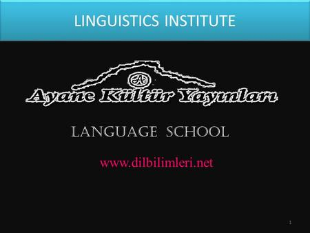 LINGUISTICS INSTITUTE