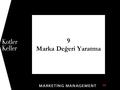 9 Marka Değeri Yaratma 1. Copyright © 2011 Pearson Education, Inc. Publishing as Prentice Hall 9-2 Bölüm Soruları  Marka nedir ve markalaşma nasıl olur?