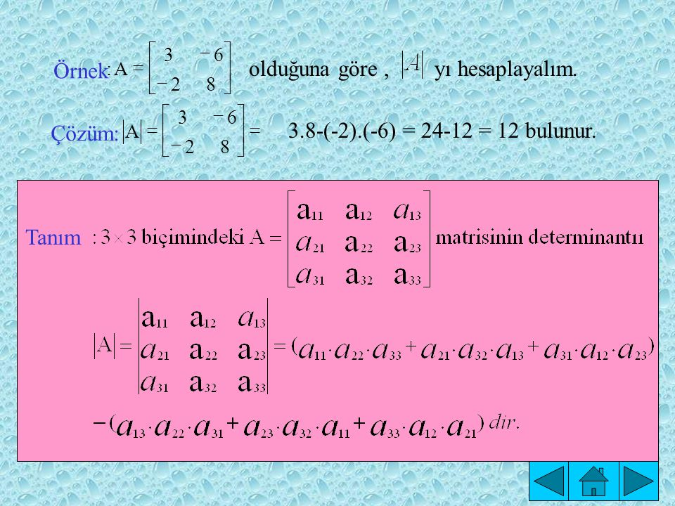 Tanım 82 63 A Çözüm: 82 63 A: Örnek                    olduğuna göre, yı hesaplayalım.