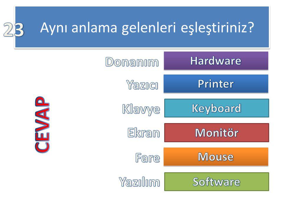 Donanım için aşağıdakilerden hangisi doğrudur.a)Bilgisayarın fiziksel yapısıdır.
