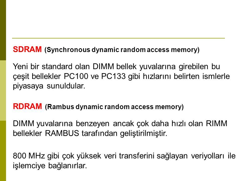 Credit Card Memory Kredi kartı boyunda olan ve DRAM çeşit bellek olan bu modüller Laptoplarda kullanılırlar.